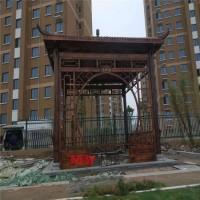 景区防腐木木屋 木屋别墅 防腐木木屋长廊设计 木屋 木栏杆 木凉亭 木奇艺直销