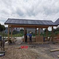 奇艺木景厂家主要供应 防腐木屋 廊架 防腐地板 凉亭 栏杆 可定制施工